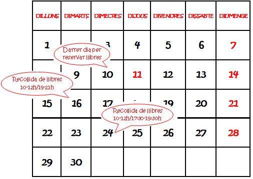 Calendario libros